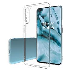 Carcasa Silicona Ultrafina Transparente T02 para OnePlus Nord Claro