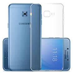 Carcasa Silicona Ultrafina Transparente T02 para Samsung Galaxy C7 Pro C7010 Claro