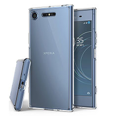 Carcasa Silicona Ultrafina Transparente T02 para Sony Xperia XZ1 Claro