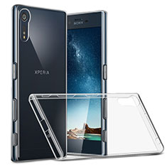 Carcasa Silicona Ultrafina Transparente T02 para Sony Xperia XZs Claro