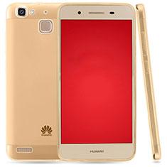 Carcasa Silicona Ultrafina Transparente T03 para Huawei P8 Lite Smart Oro