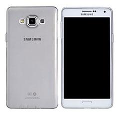Carcasa Silicona Ultrafina Transparente T03 para Samsung Galaxy A7 Duos SM-A700F A700FD Claro