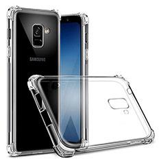 Carcasa Silicona Ultrafina Transparente T03 para Samsung Galaxy A8+ A8 Plus (2018) Duos A730F Claro
