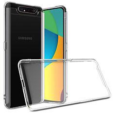Carcasa Silicona Ultrafina Transparente T03 para Samsung Galaxy A80 Claro