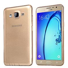 Carcasa Silicona Ultrafina Transparente T03 para Samsung Galaxy On5 Pro Oro
