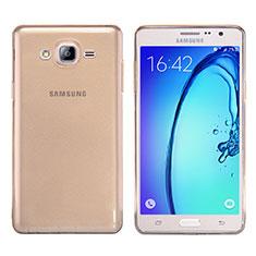 Carcasa Silicona Ultrafina Transparente T03 para Samsung Galaxy On7 Pro Oro
