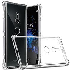 Carcasa Silicona Ultrafina Transparente T03 para Sony Xperia XZ2 Claro