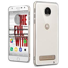 Carcasa Silicona Ultrafina Transparente T04 para Motorola Moto Z Play Claro
