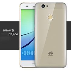 Carcasa Silicona Ultrafina Transparente T05 para Huawei Nova Gris