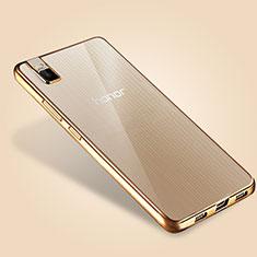 Carcasa Silicona Ultrafina Transparente T06 para Huawei Honor 7i shot X Oro