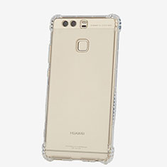 Carcasa Silicona Ultrafina Transparente T06 para Huawei P9 Plus Claro