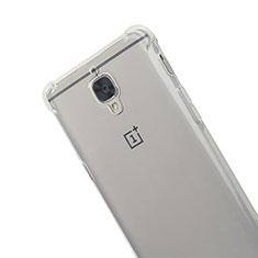 Carcasa Silicona Ultrafina Transparente T06 para OnePlus 3 Gris