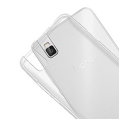 Carcasa Silicona Ultrafina Transparente T07 para Huawei Honor 7i shot X Claro