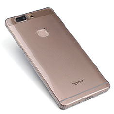 Carcasa Silicona Ultrafina Transparente T07 para Huawei Honor V8 Gris