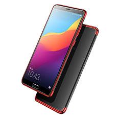 Carcasa Silicona Ultrafina Transparente T08 para Huawei Nova 2S Rojo