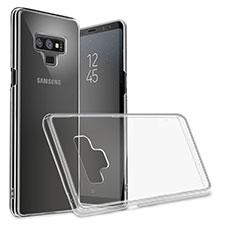 Carcasa Silicona Ultrafina Transparente T09 para Samsung Galaxy Note 9 Negro
