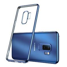 Carcasa Silicona Ultrafina Transparente T09 para Samsung Galaxy S9 Plus Azul