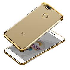 Carcasa Silicona Ultrafina Transparente T10 para Xiaomi Mi A1 Oro