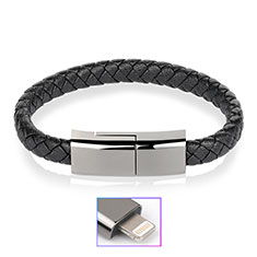 Cargador Cable USB Carga y Datos 20cm S02 para Apple iPad 10.2 (2020) Negro