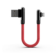 Cargador Cable USB Carga y Datos 20cm S02 para Apple iPhone 11 Rojo