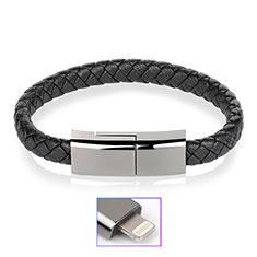 Cargador Cable USB Carga y Datos 20cm S02 para Apple iPhone 12 Pro Negro