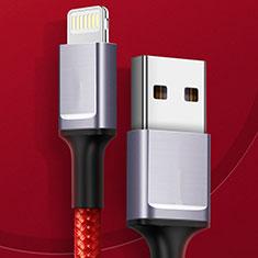 Cargador Cable USB Carga y Datos C03 para Apple iPhone 11 Rojo