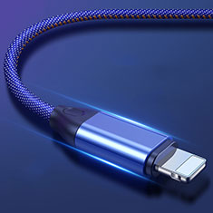 Cargador Cable USB Carga y Datos C04 para Apple iPhone 11 Azul