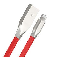 Cargador Cable USB Carga y Datos C05 para Apple iPhone 11 Rojo