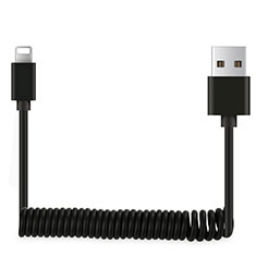 Cargador Cable USB Carga y Datos D08 para Apple iPhone 11 Pro Negro