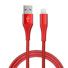 Cargador Cable USB Carga y Datos D14 para Apple iPhone 11 Pro Rojo