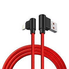 Cargador Cable USB Carga y Datos D15 para Apple iPad 10.2 (2020) Rojo
