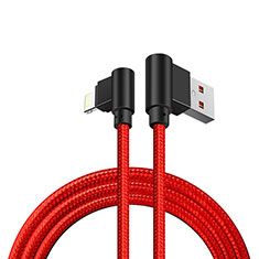 Cargador Cable USB Carga y Datos D15 para Apple iPhone 11 Pro Rojo