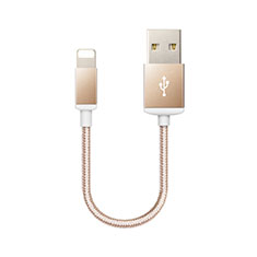 Cargador Cable USB Carga y Datos D18 para Apple iPhone 11 Pro Max Oro
