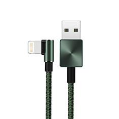 Cargador Cable USB Carga y Datos D19 para Apple iPad 10.2 (2020) Verde