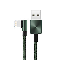 Cargador Cable USB Carga y Datos D19 para Apple iPhone 11 Pro Max Verde