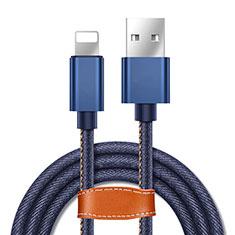 Cargador Cable USB Carga y Datos L04 para Apple iPhone 11 Azul