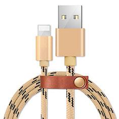 Cargador Cable USB Carga y Datos L05 para Apple iPhone 11 Pro Oro
