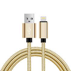 Cargador Cable USB Carga y Datos L07 para Apple iPhone 11 Pro Oro