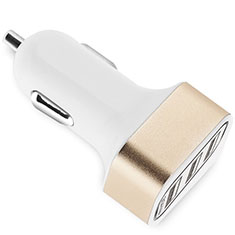 Cargador de Mechero 3.0A Adaptador Coche 3 Puerto USB Carga Rapida Universal U07 para Huawei P30 Lite Oro