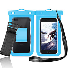 Funda Bolsa Impermeable y Sumergible Universal W05 para Apple iPhone 11 Azul
