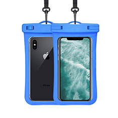 Funda Bolsa Impermeable y Sumergible Universal W07 para Apple iPhone 11 Azul