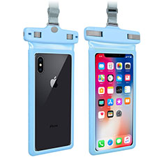 Funda Bolsa Impermeable y Sumergible Universal W09 para Apple iPhone 11 Pro Max Azul