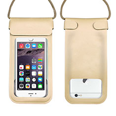 Funda Bolsa Impermeable y Sumergible Universal W10 para Apple iPhone 11 Oro