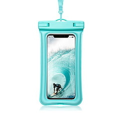 Funda Bolsa Impermeable y Sumergible Universal W12 para Apple iPhone 8 Plus Cian