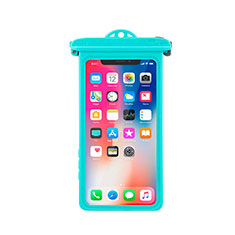 Funda Bolsa Impermeable y Sumergible Universal W14 para Apple iPhone 11 Cian