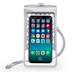 Funda Bolsa Impermeable y Sumergible Universal W15 para Apple iPhone 11 Plata