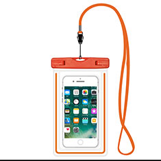Funda Bolsa Impermeable y Sumergible Universal W16 para Apple iPhone 12 Mini Naranja