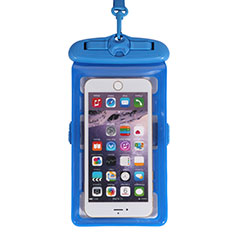 Funda Bolsa Impermeable y Sumergible Universal W18 para Apple iPhone 11 Azul