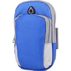 Funda Brazalete Deportivo Brazo Correr Universal A11 para Xiaomi Poco M3 Azul
