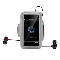 Funda Brazalete Deportivo Brazo Correr Universal B25 para Sony Xperia XA2 Ultra Plata